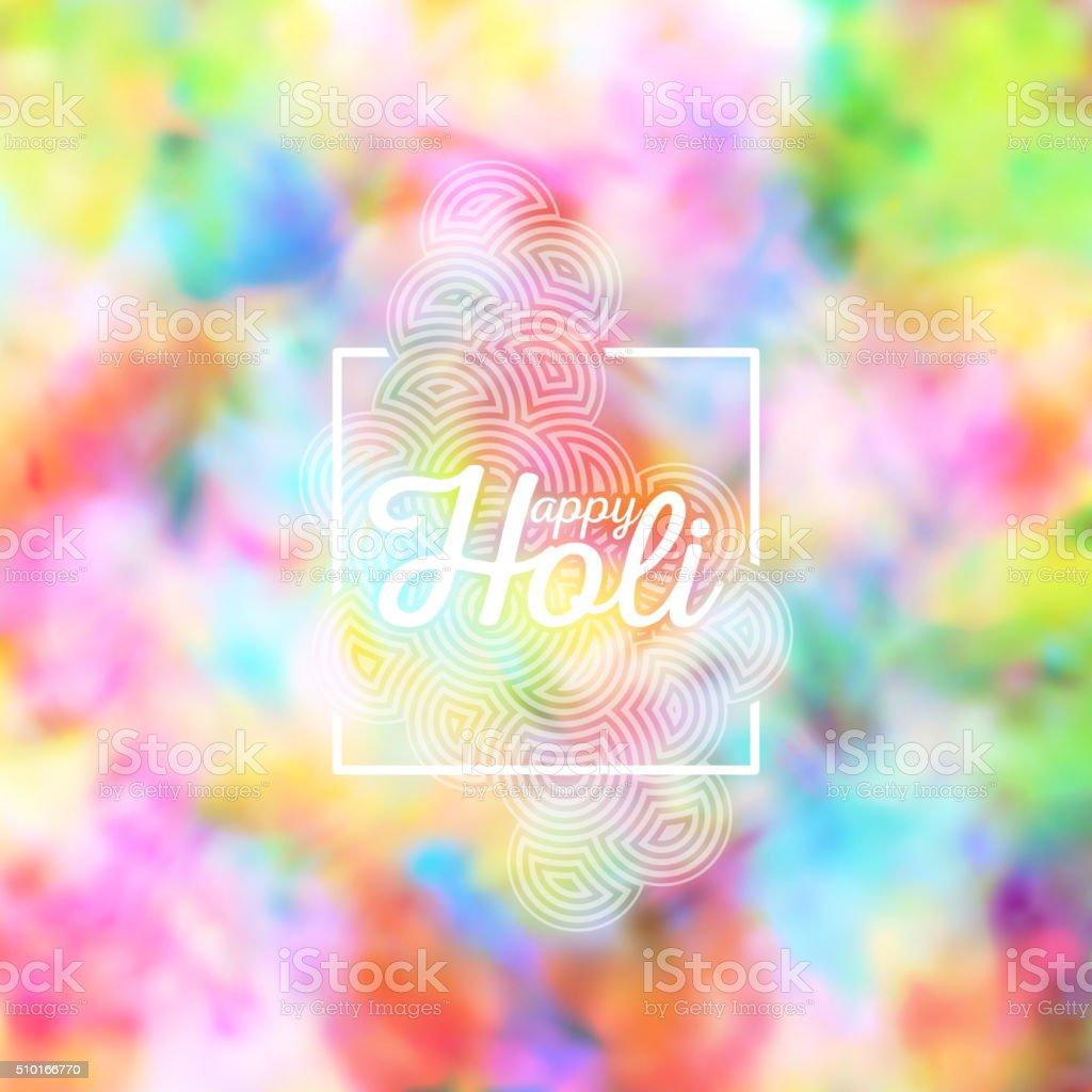 Colorful background for Holi celebration, vector illustration vector art illustration