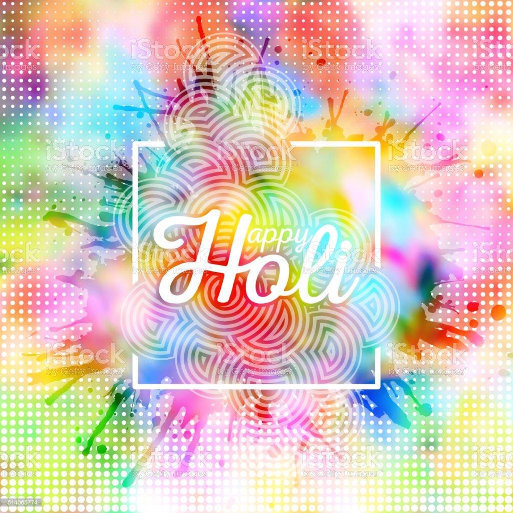 Colorful background for Holi celebration with colors splash, vector illustration vector art illustration