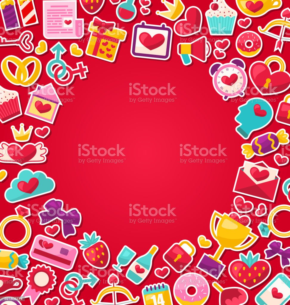 Colorful Background for Valentine's Day vector art illustration