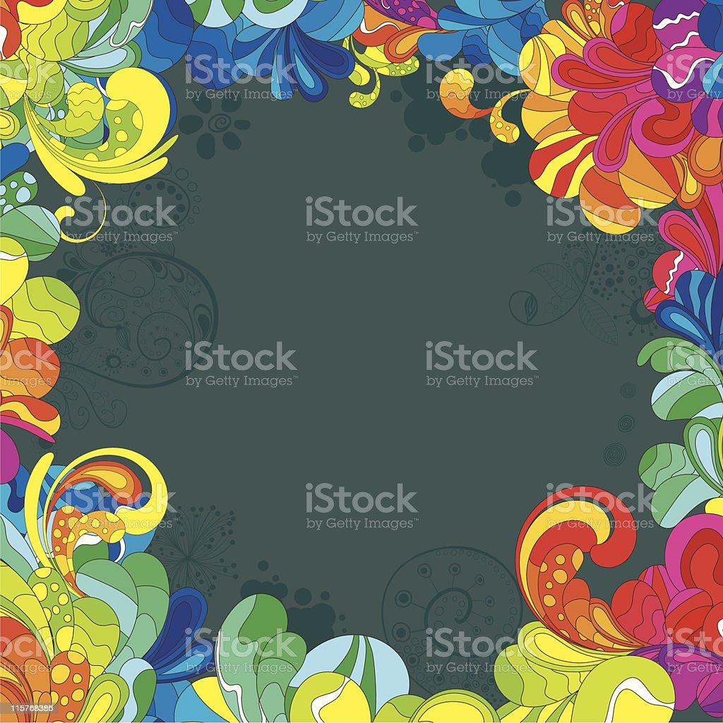 Colorful background vector art illustration
