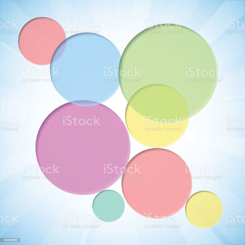 Colorful background with dent circles vector art illustration