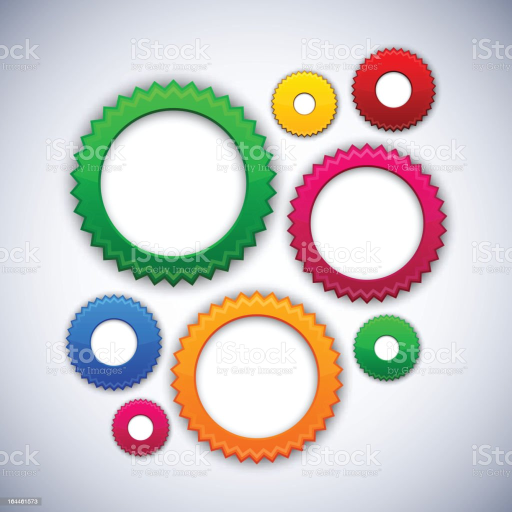 Colorful background with gear circles. royalty-free stock vector art
