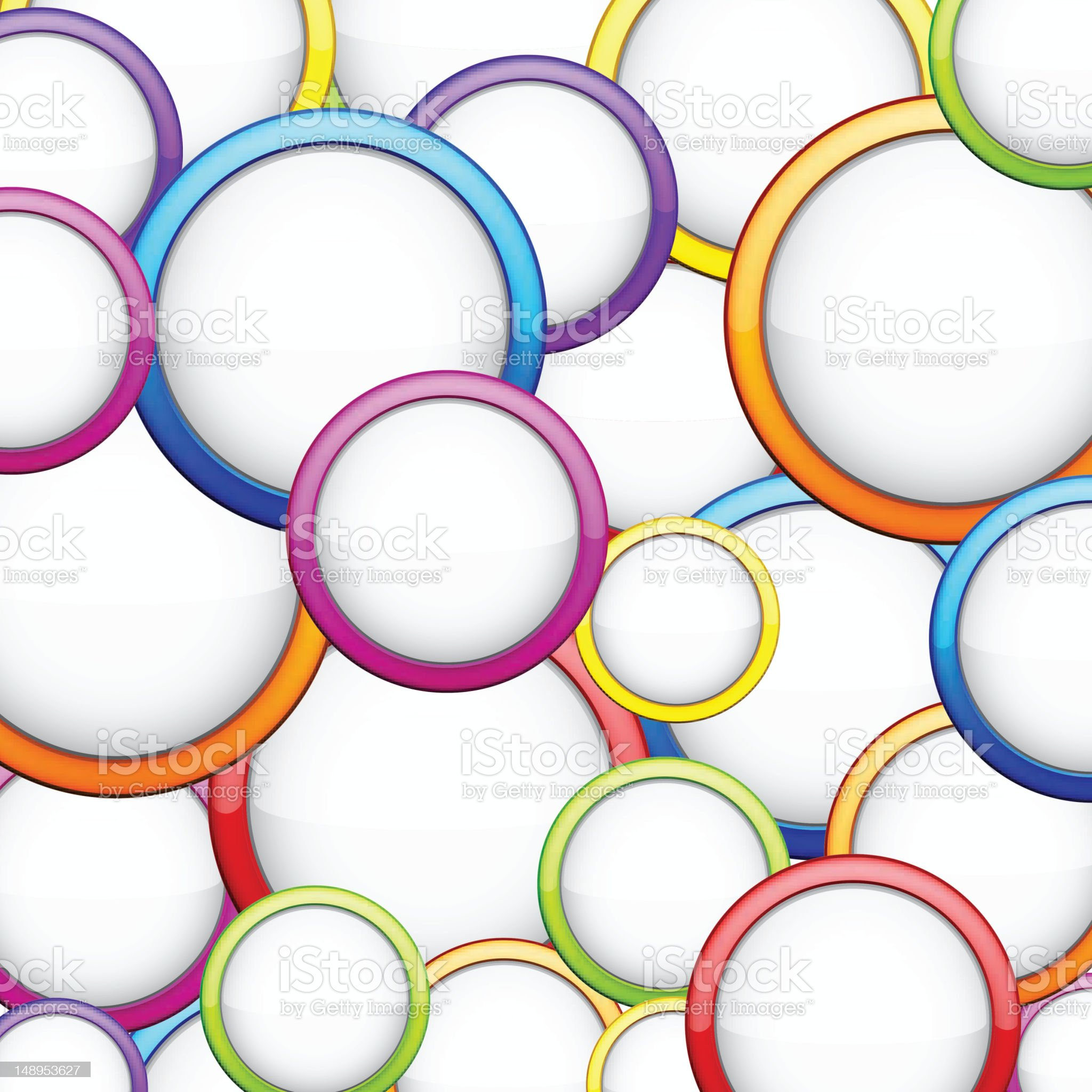 Colorful background with glossy circles. royalty-free stock vector art