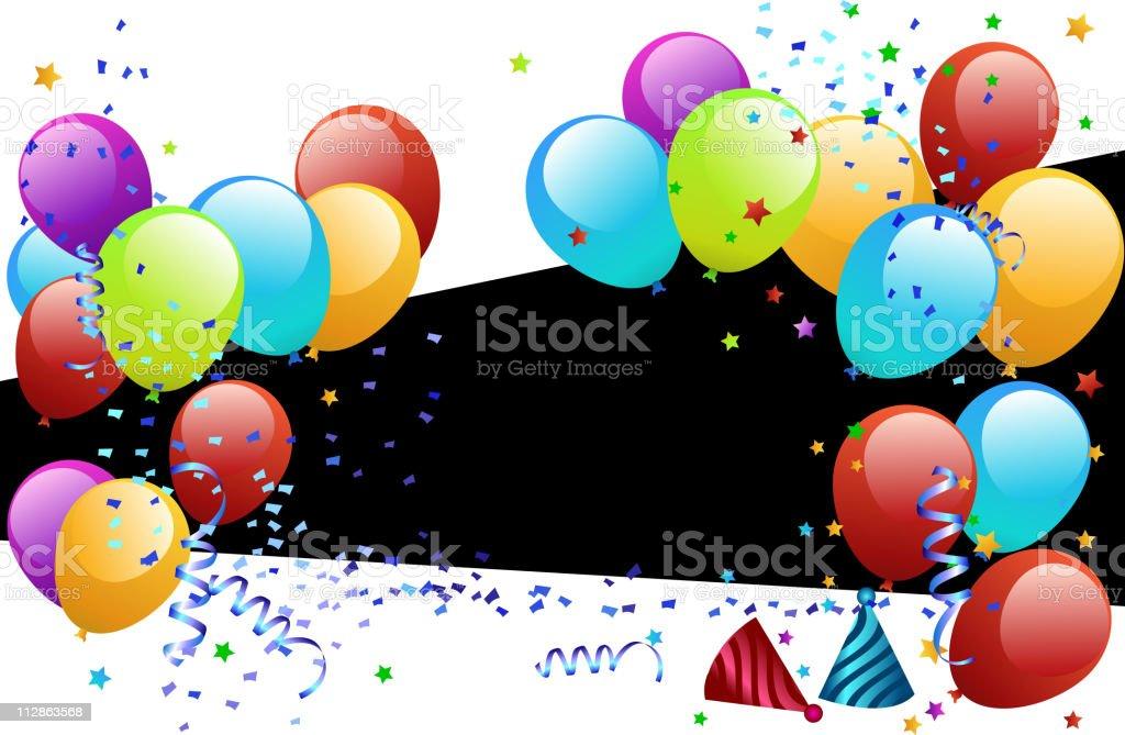Colorful Balloon Banner royalty-free stock vector art