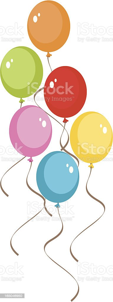 Colorful Balloons royalty-free stock vector art
