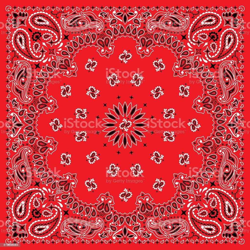 Colorful Bandana. vector art illustration