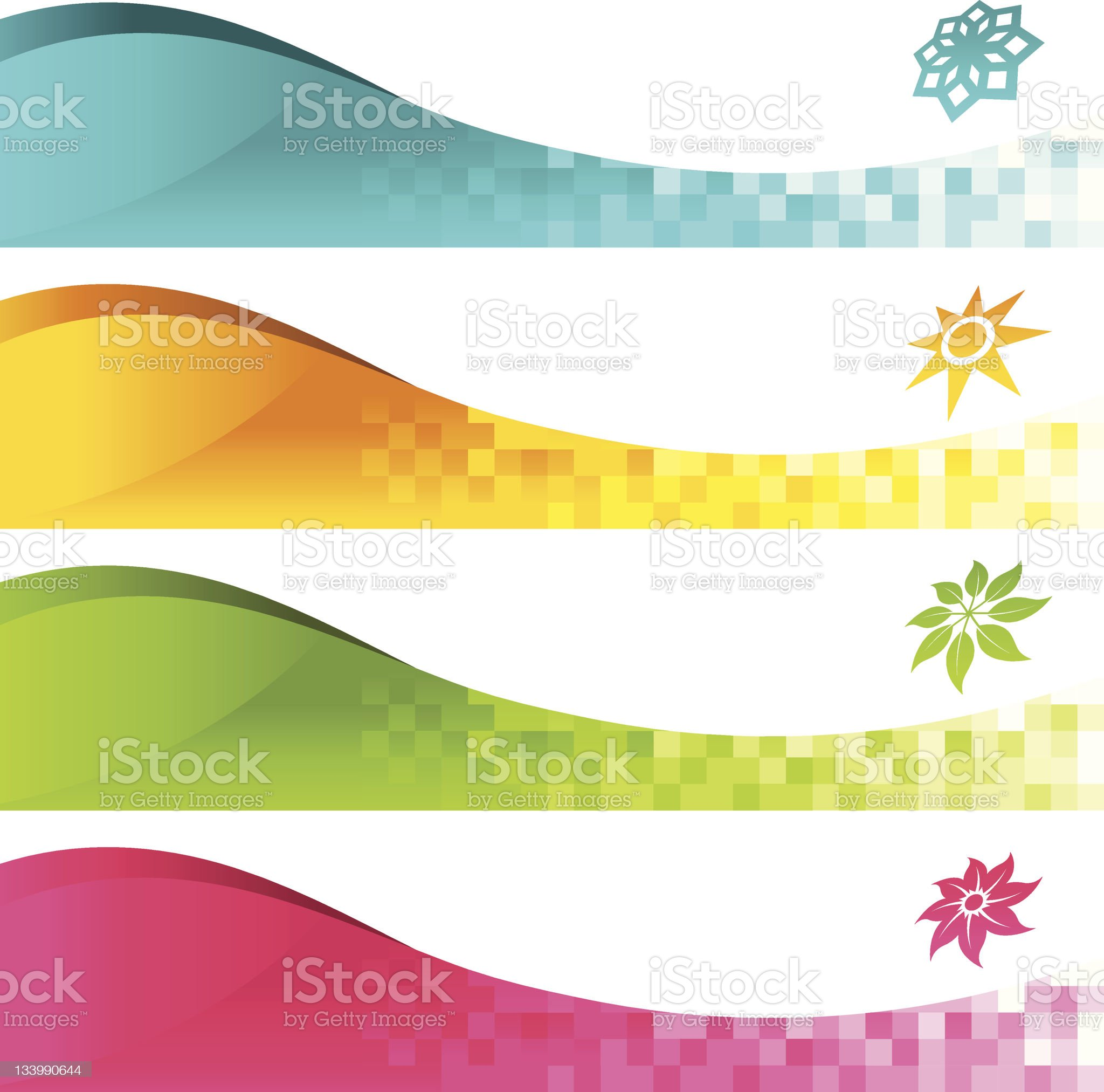Colorful Banner Icons royalty-free stock vector art