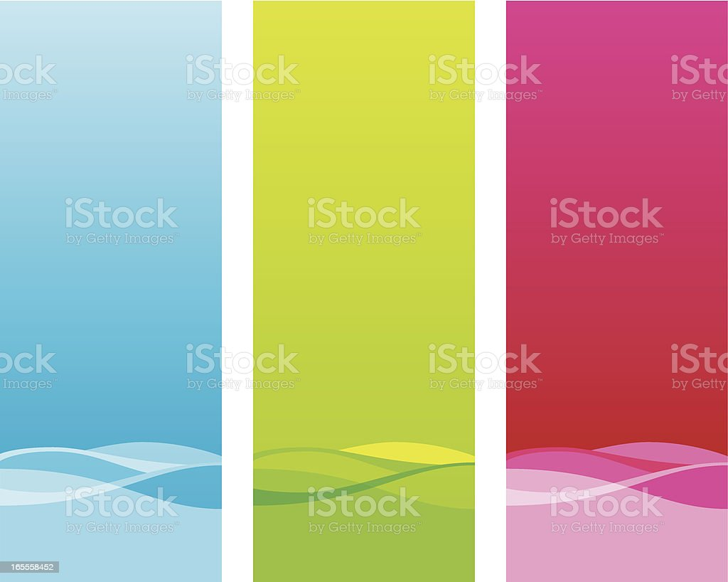 Colorful Banners royalty-free stock vector art