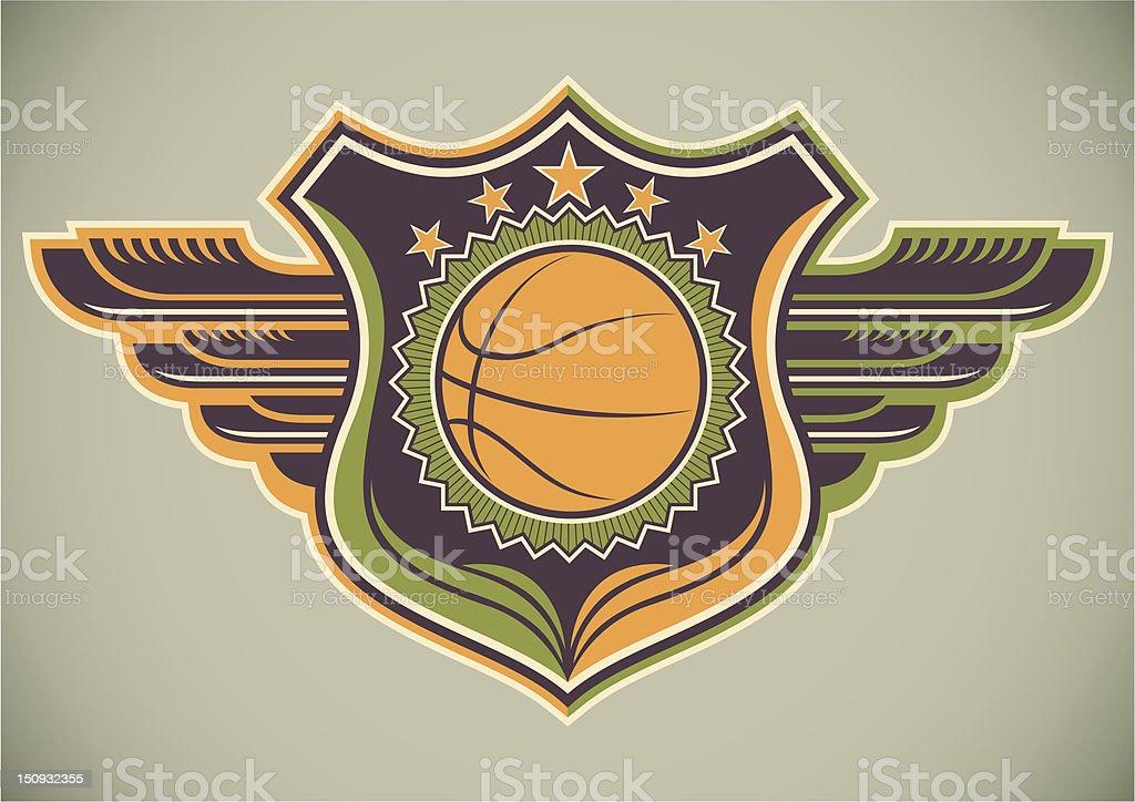 Colorful basketball emblem. royalty-free stock vector art