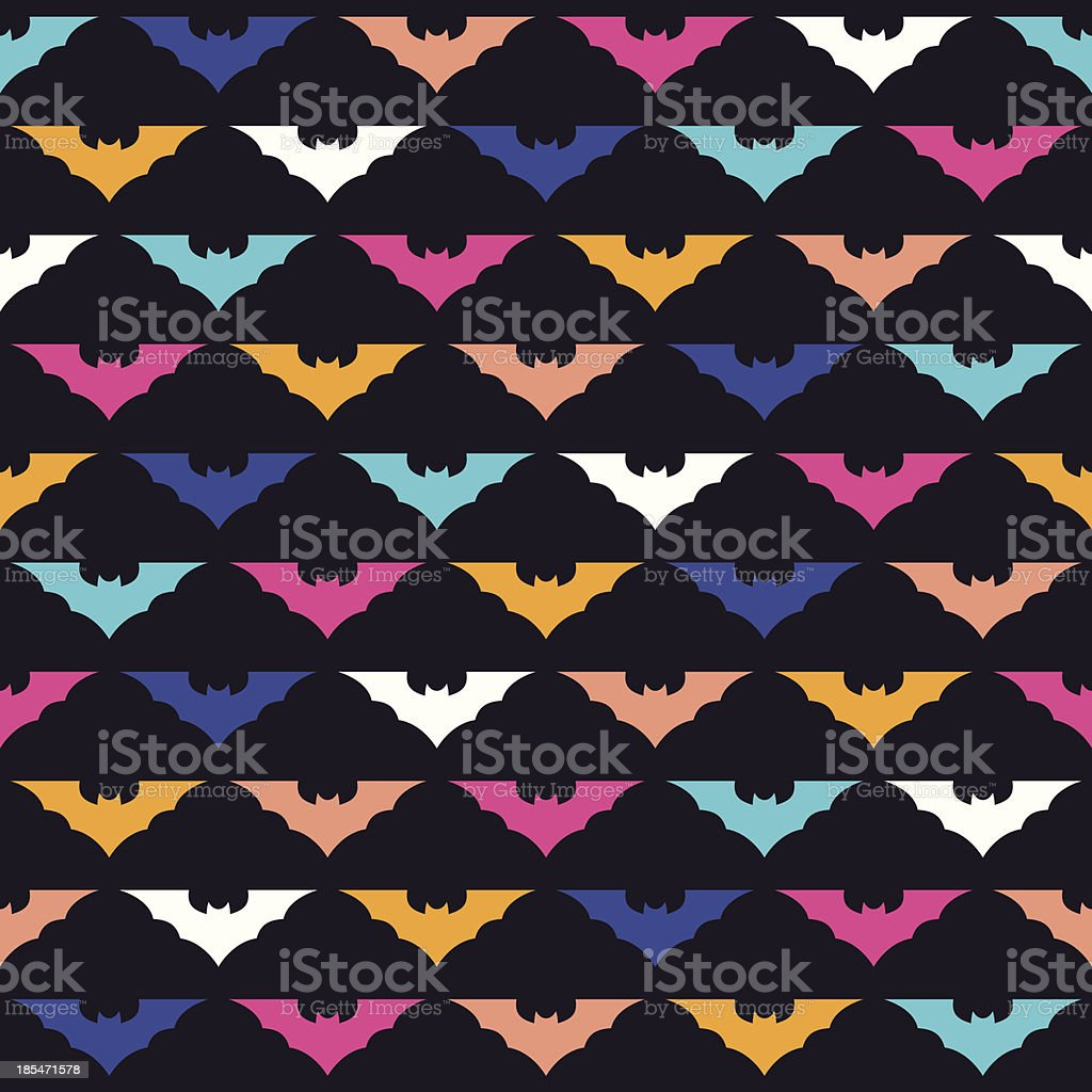 Colorful bats royalty-free stock vector art