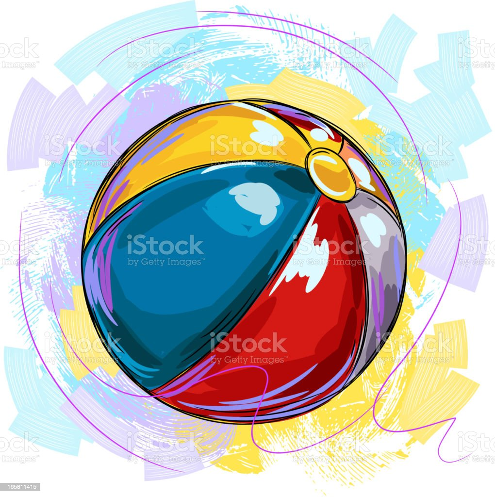 Colorful Beach Ball royalty-free stock vector art