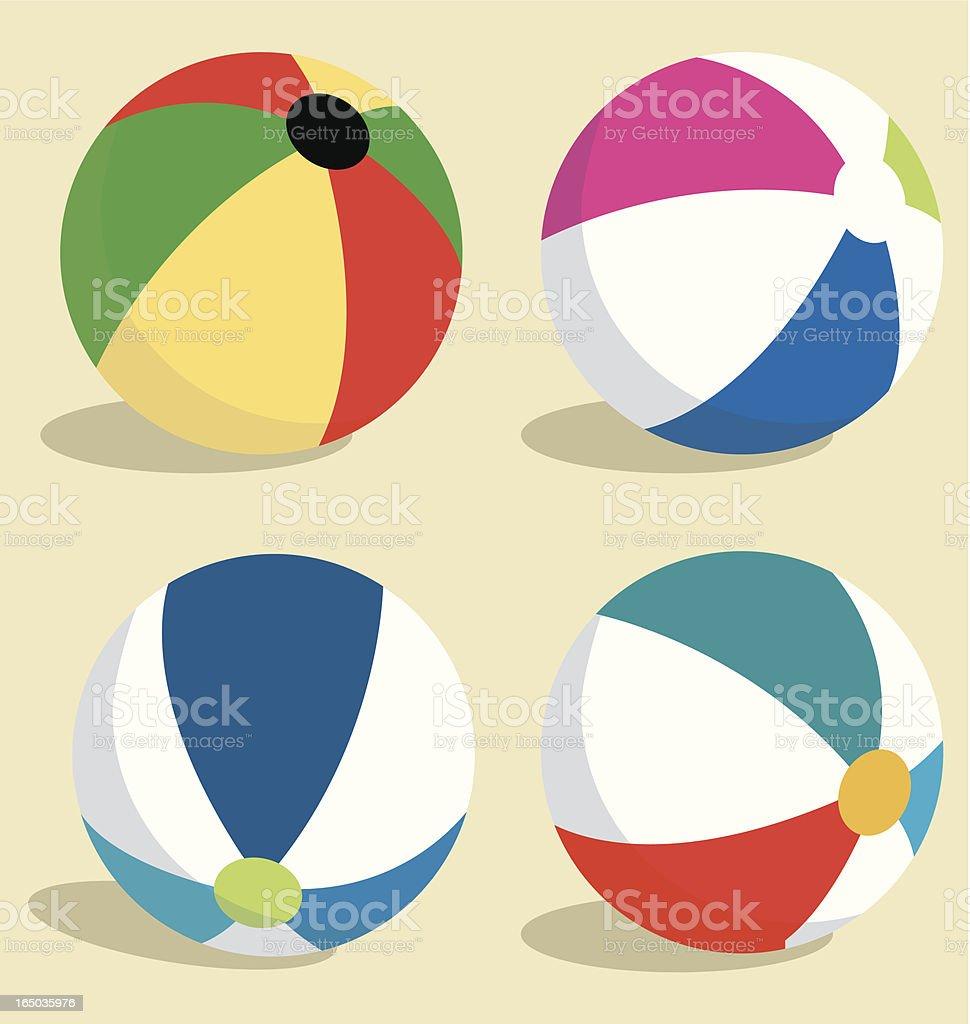Colorful Beach Balls vector art illustration