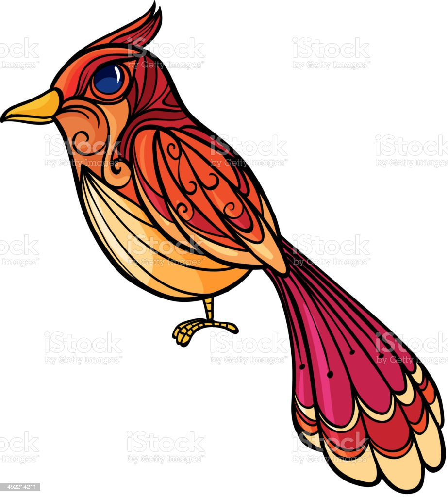 colorful bird royalty-free stock vector art