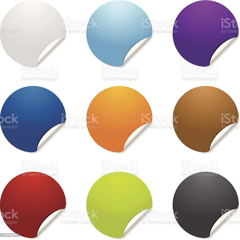 Colorful blank sticker graphics royalty-free stock vector art