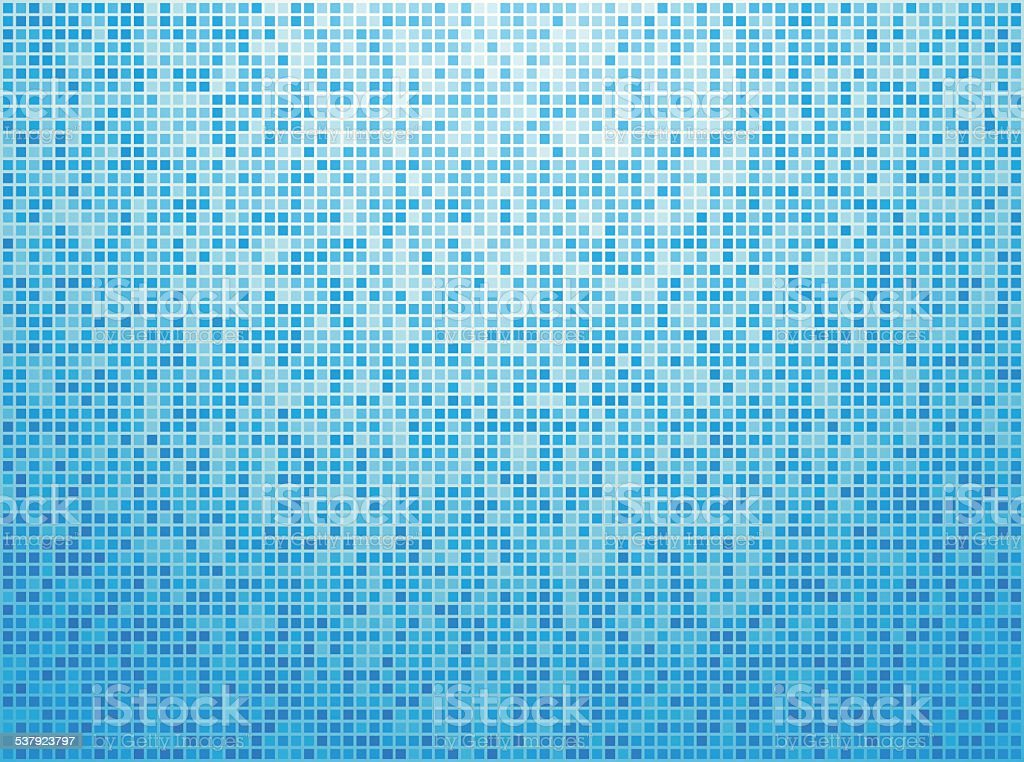 Colorful blue checkered background vector art illustration
