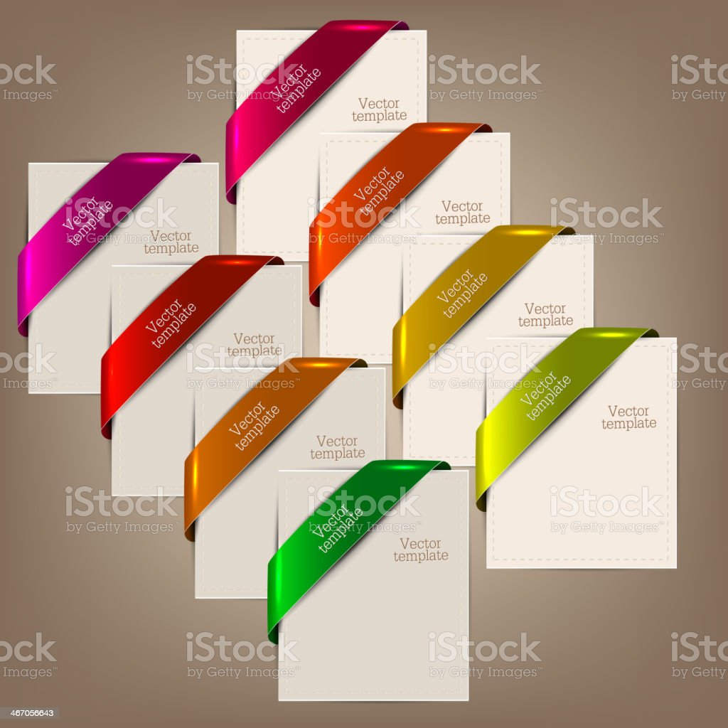 Colorful bookmarks and notes for text royalty-free stock vector art