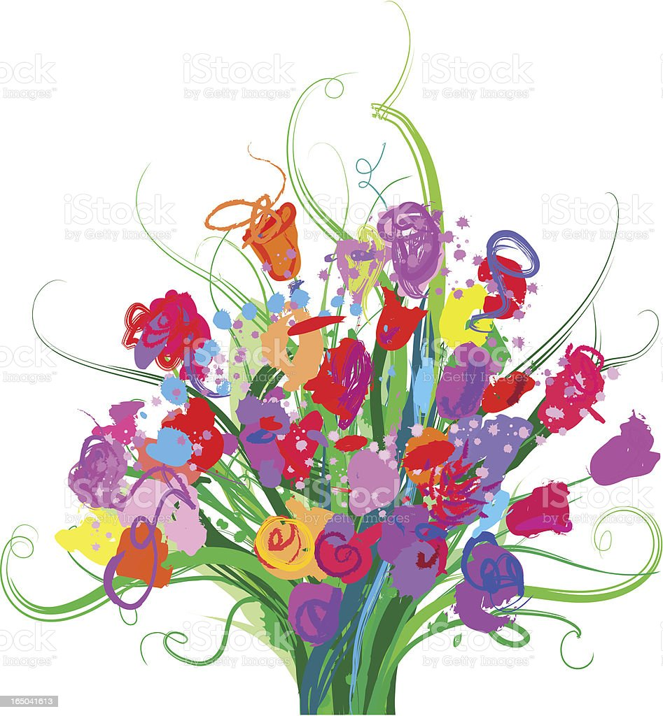 colorful bouquet royalty-free stock vector art
