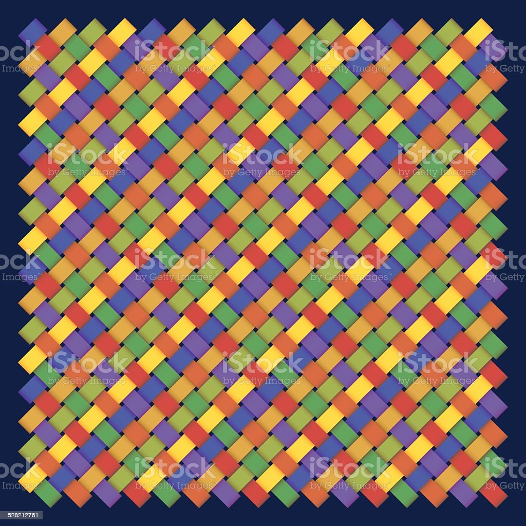 colorful braided pattern vector art illustration