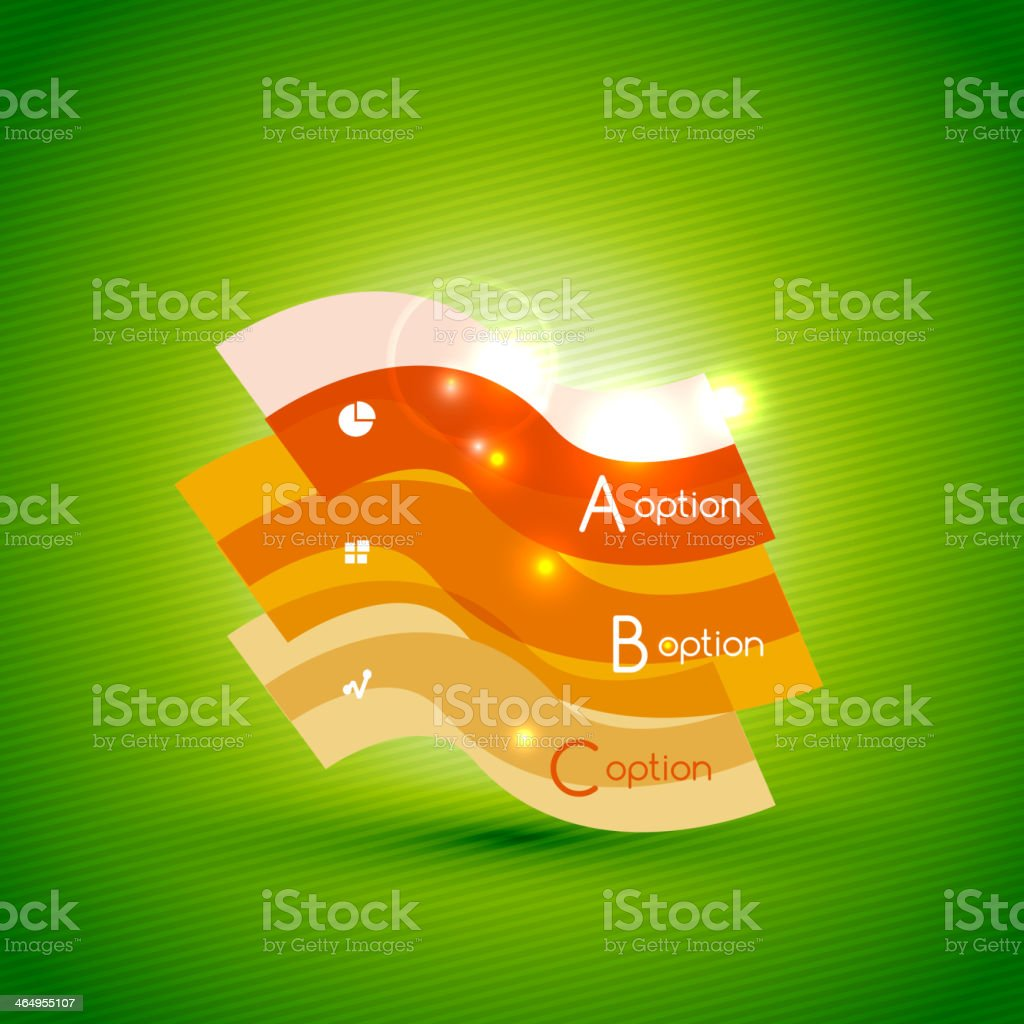 Colorful bright light shiny option banner royalty-free stock vector art