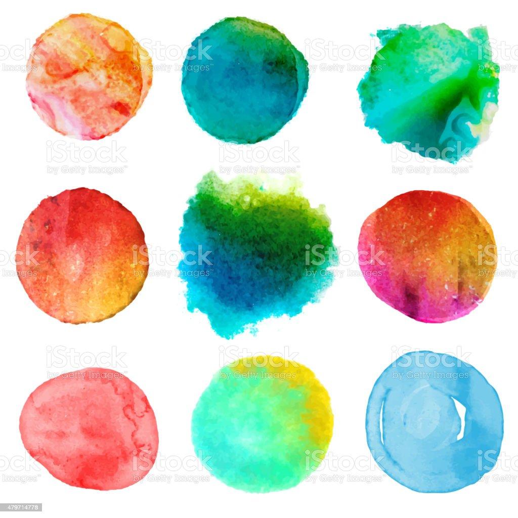 Colorful brush strokes vector art illustration