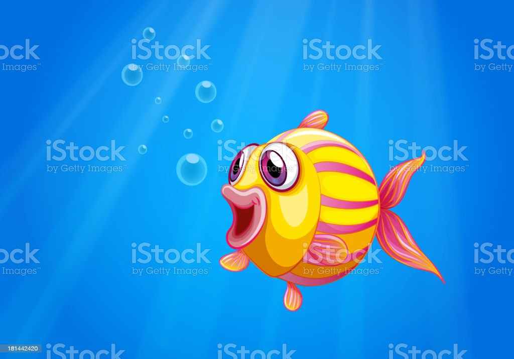 colorful bubble fish under the sea royalty-free stock vector art