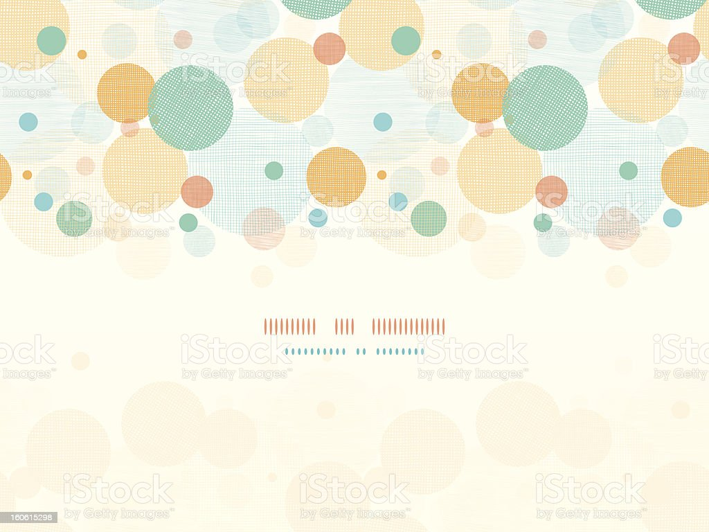 Colorful bubble pattern on top of cream-colored background royalty-free stock vector art
