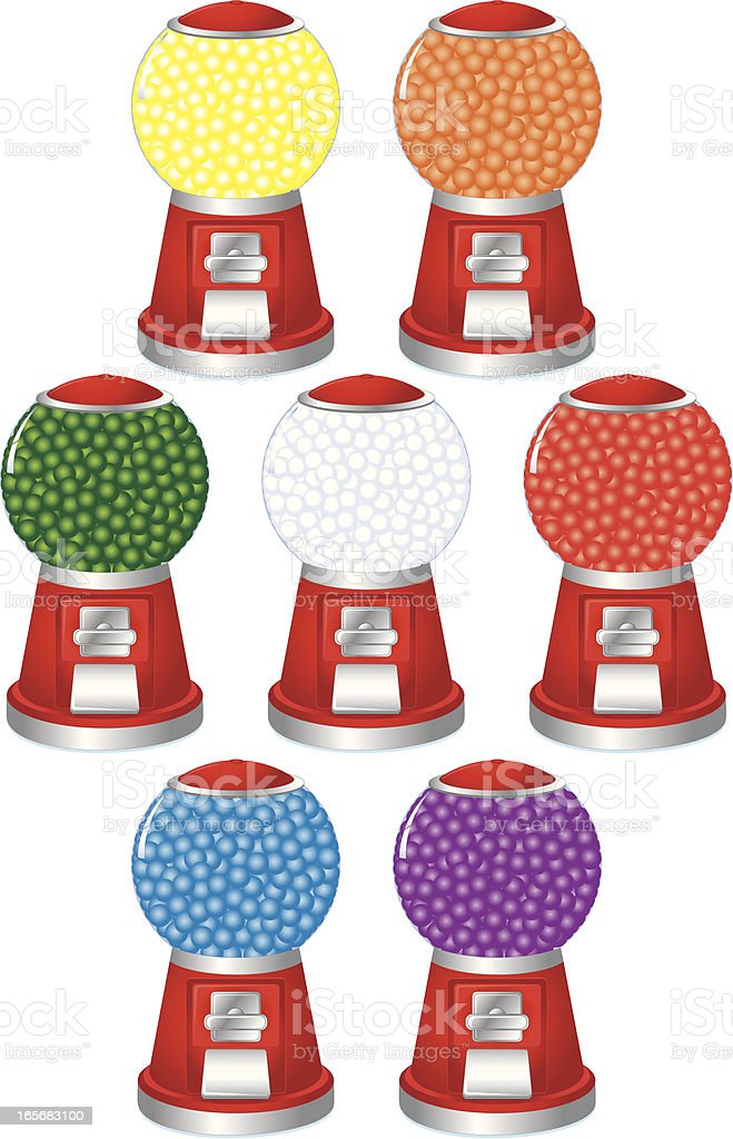 Colorful Bubblegum Machines royalty-free stock vector art