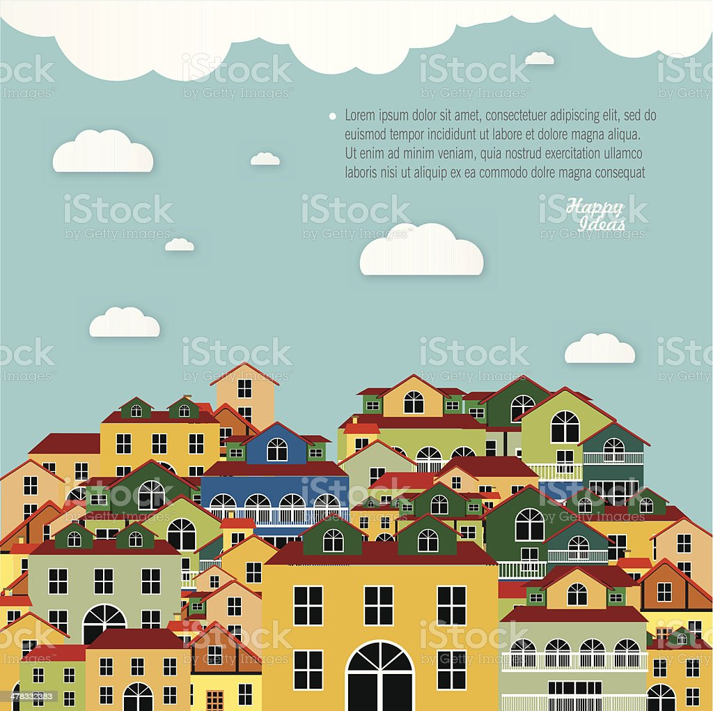 Colorful buildings design.Vector background. royalty-free stock vector art