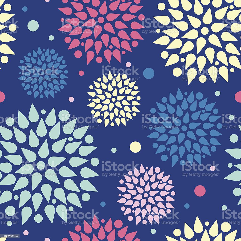 Colorful bursts seamless pattern background royalty-free stock vector art
