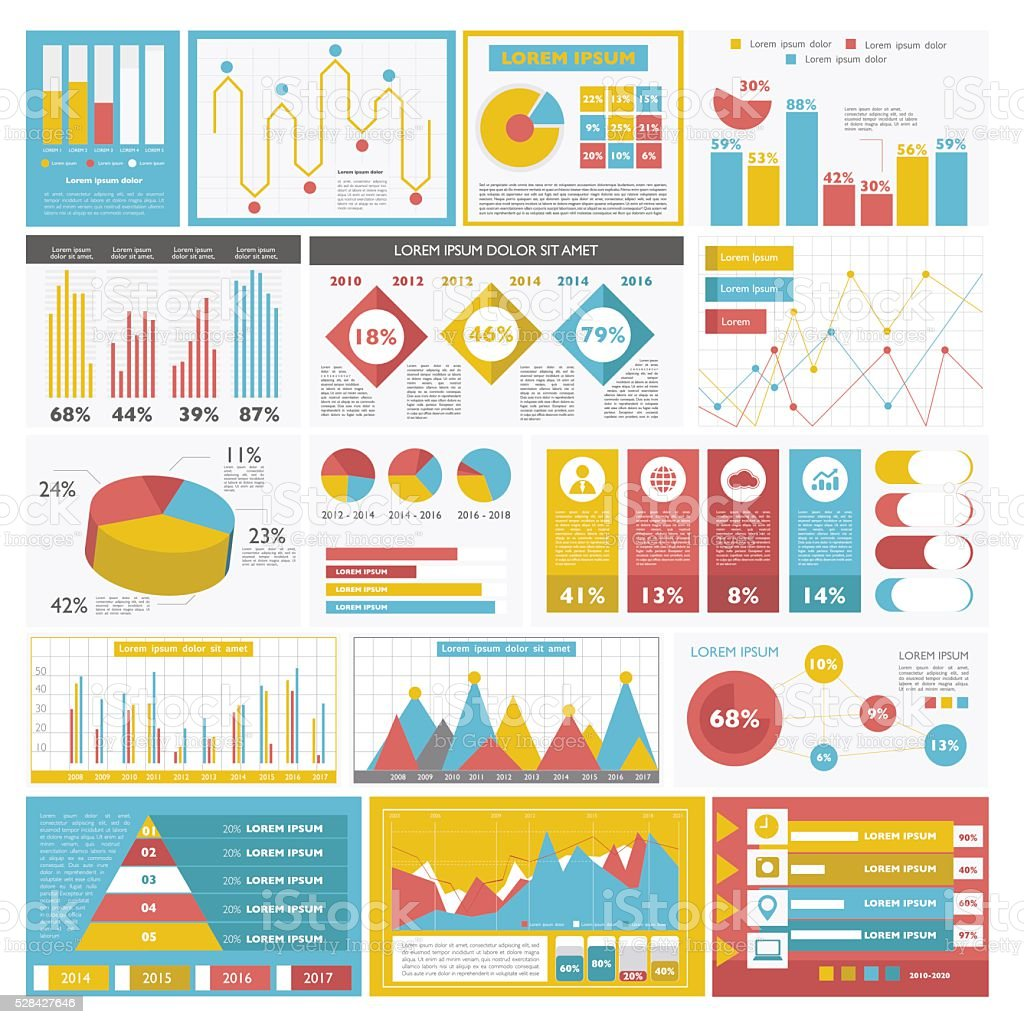 Colorful business graph royalty-free stock vector art