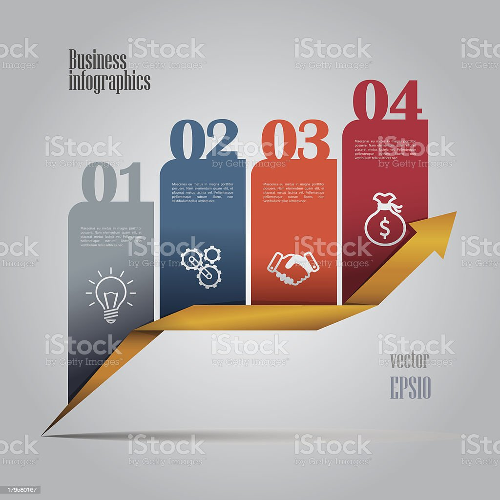 Colorful business infographics royalty-free stock vector art
