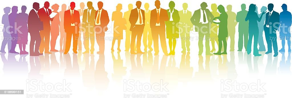 Colorful businesspeople vector art illustration