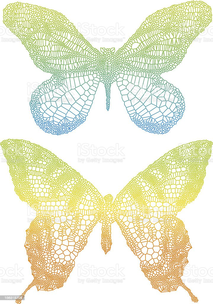 colorful butterflies royalty-free stock vector art