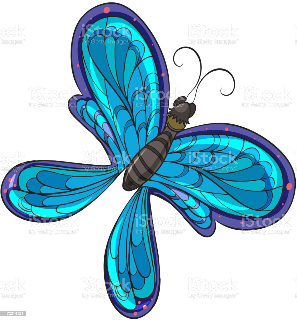 Colorful butterfly royalty-free stock vector art