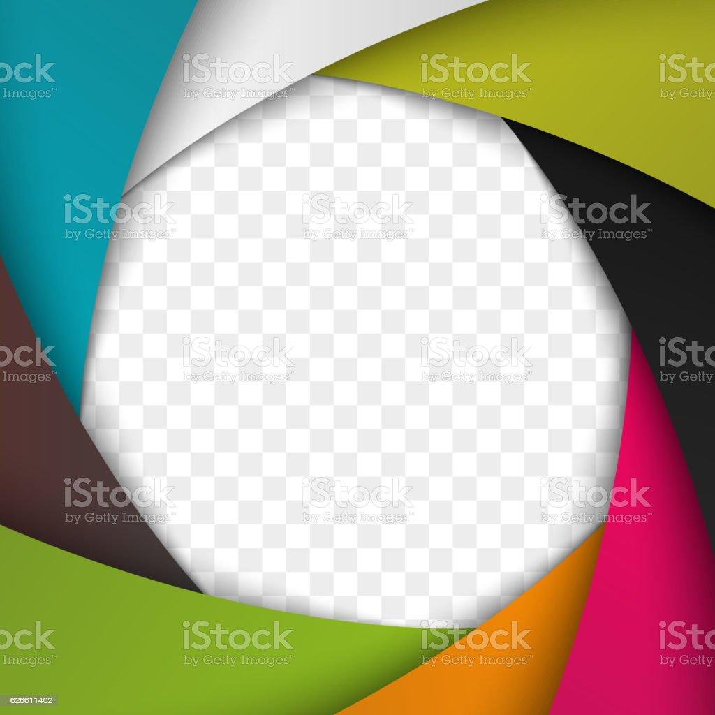 Colorful Camera Shutter Aperture. Vector background. vector art illustration