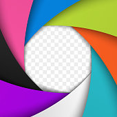 Colorful Camera Shutter Aperture. Vector background.