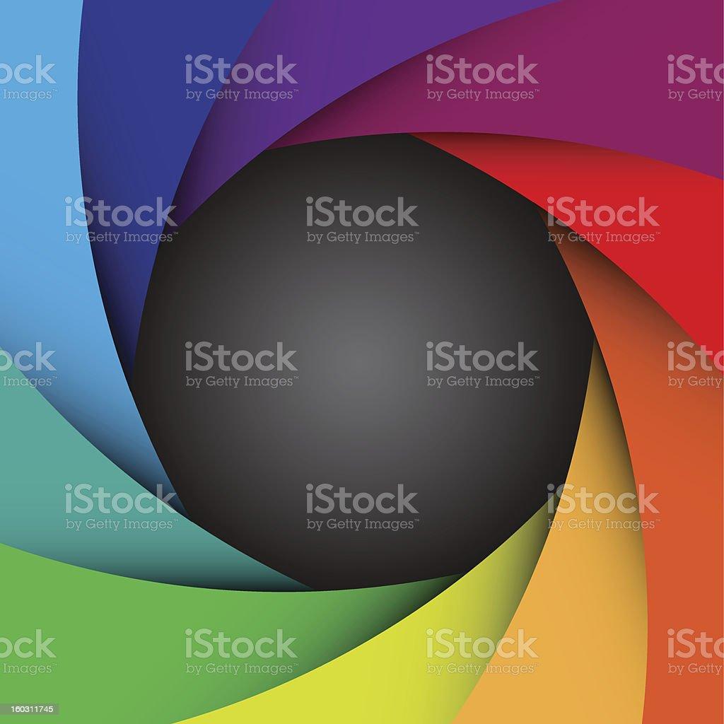 Colorful camera shutter background,Illustration vector art illustration