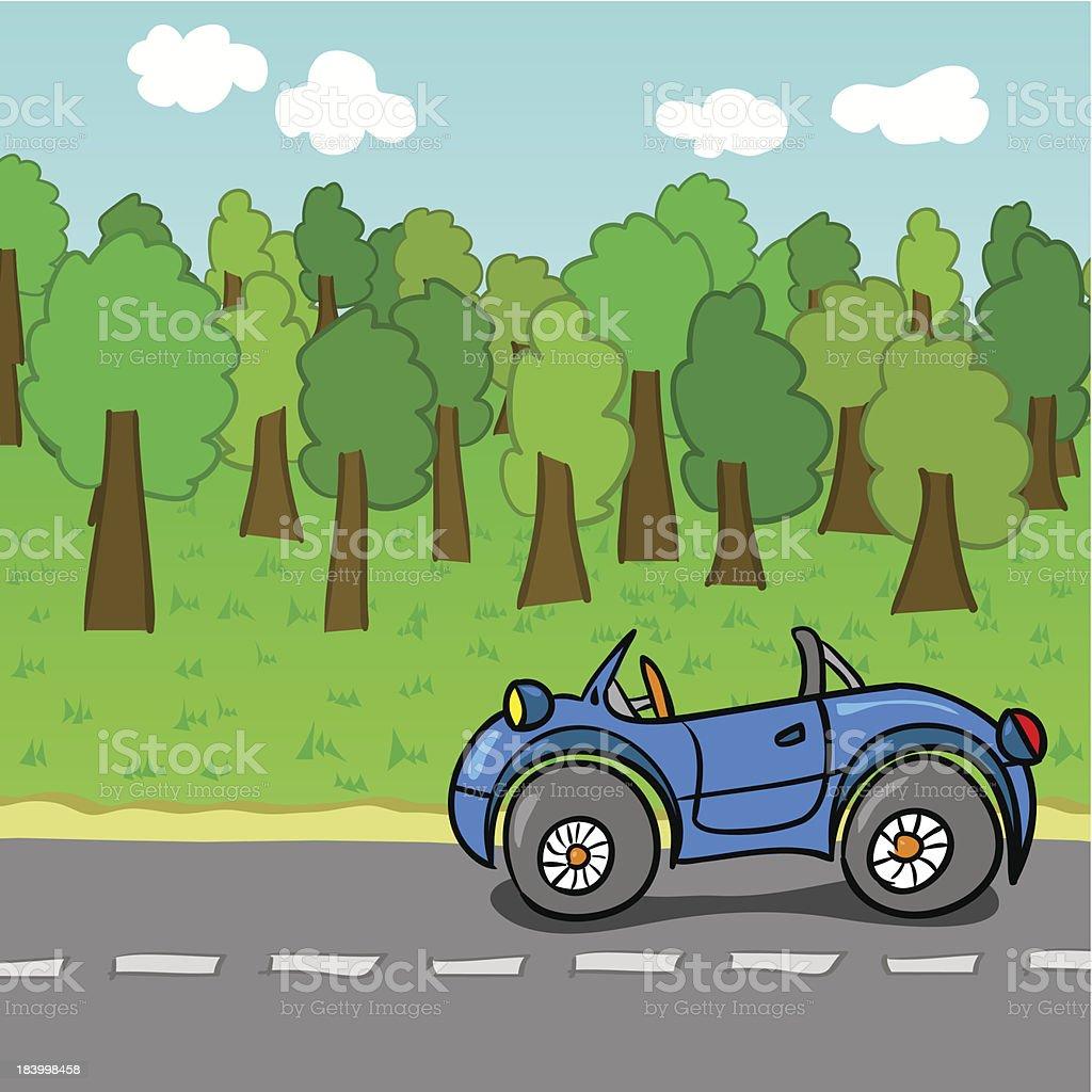 Colorful cartoon cars royalty-free stock vector art