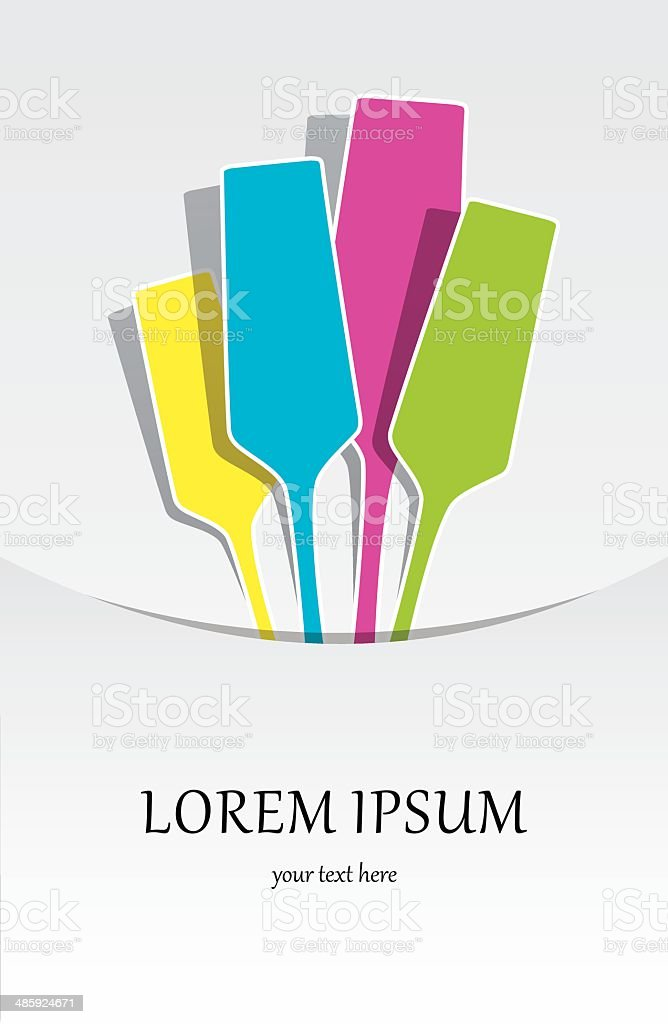 Colorful Champagne Glasses vector art illustration