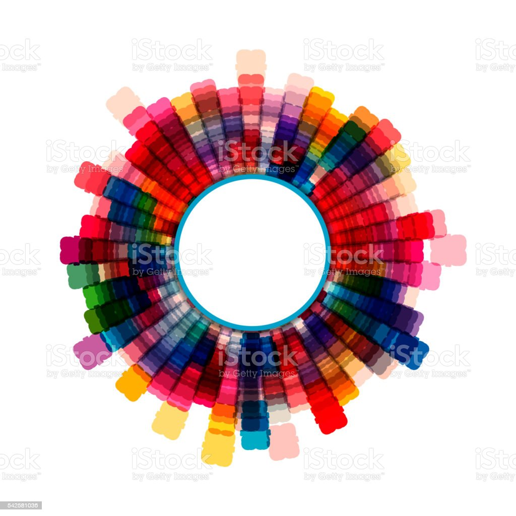 colorful check rotate pattern background vector art illustration