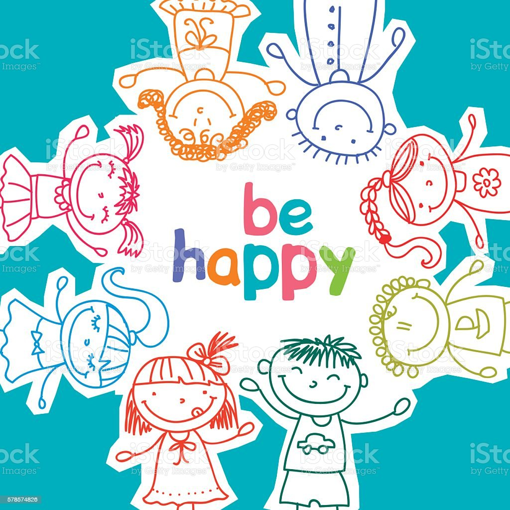 colorful children royalty-free stock vector art