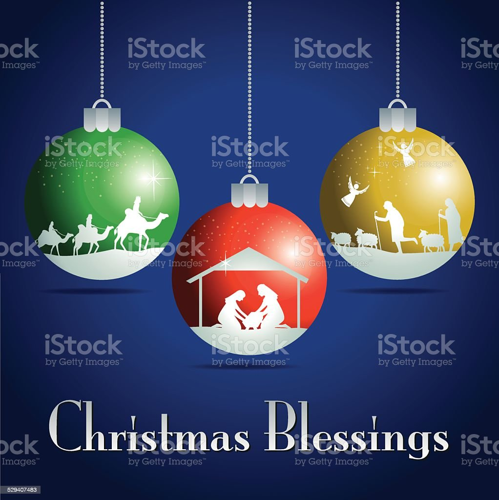Colorful Christmas balls. Christmas story. vector art illustration