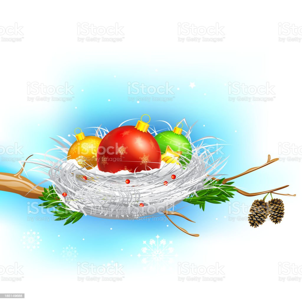 Colorful Christmas Bauble royalty-free stock vector art