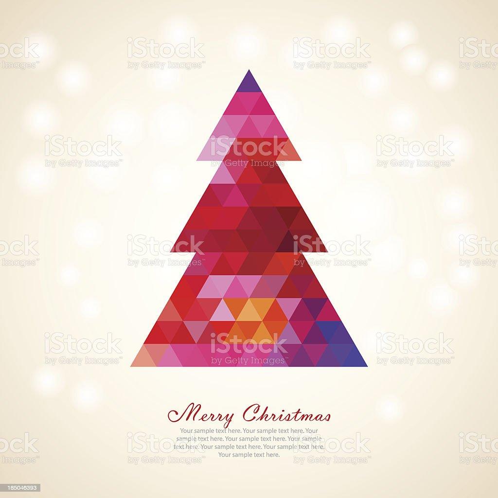 Colorful Christmas Tree vector art illustration