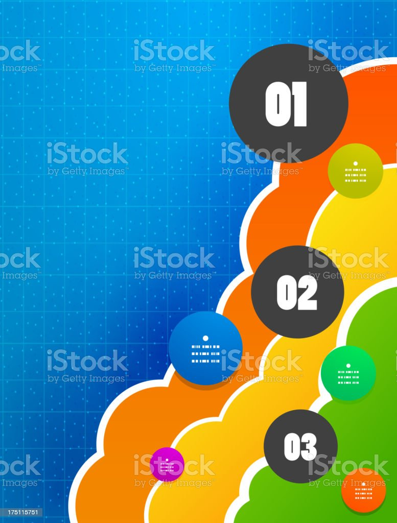 Colorful clouds infographic background royalty-free stock vector art