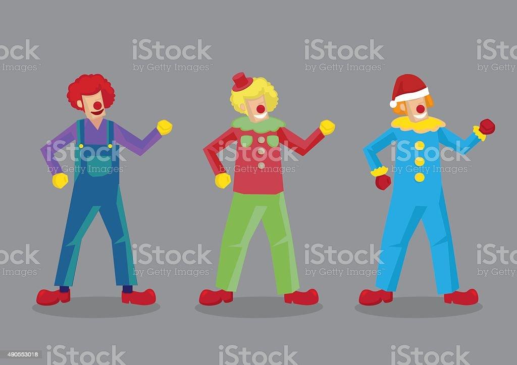 Colorful Clown Costumes Vector Illustration vector art illustration