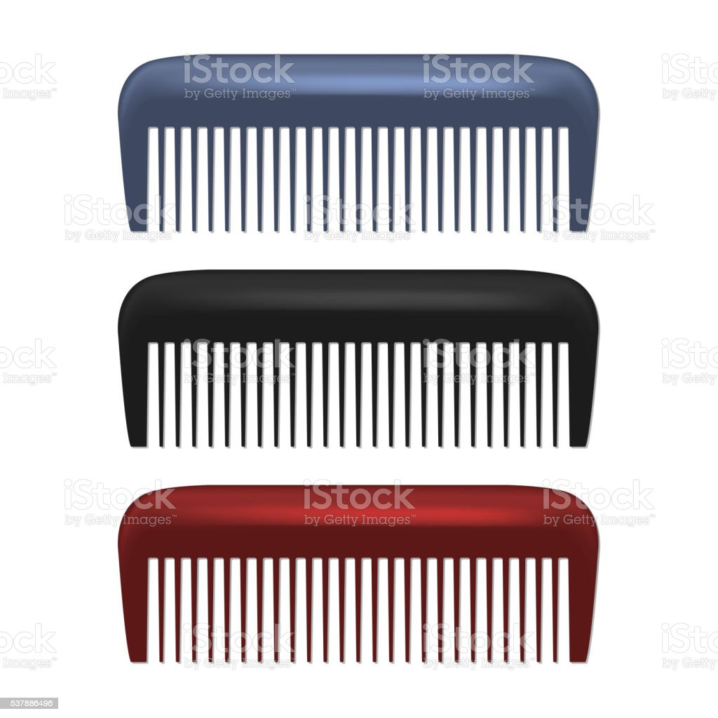 Colorful Combs isolated on white background vector art illustration