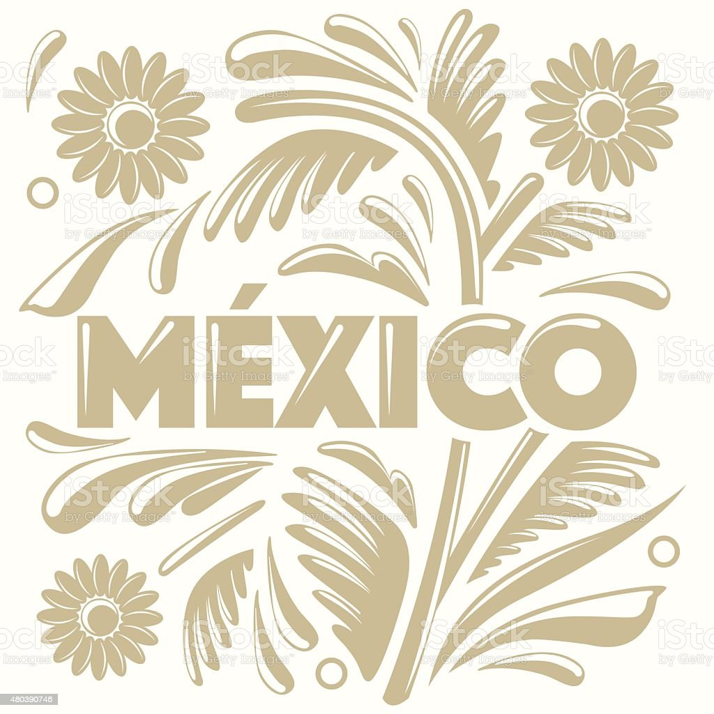 Colorful Composition - Mexico vector art illustration