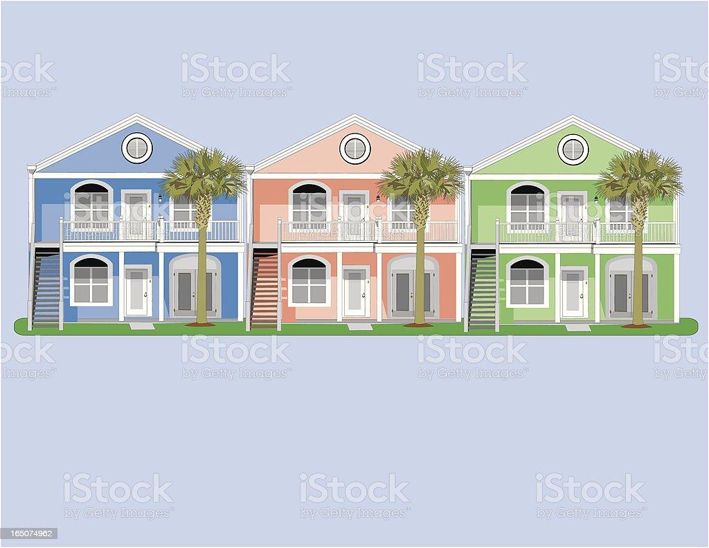 Colorful Condos royalty-free stock vector art