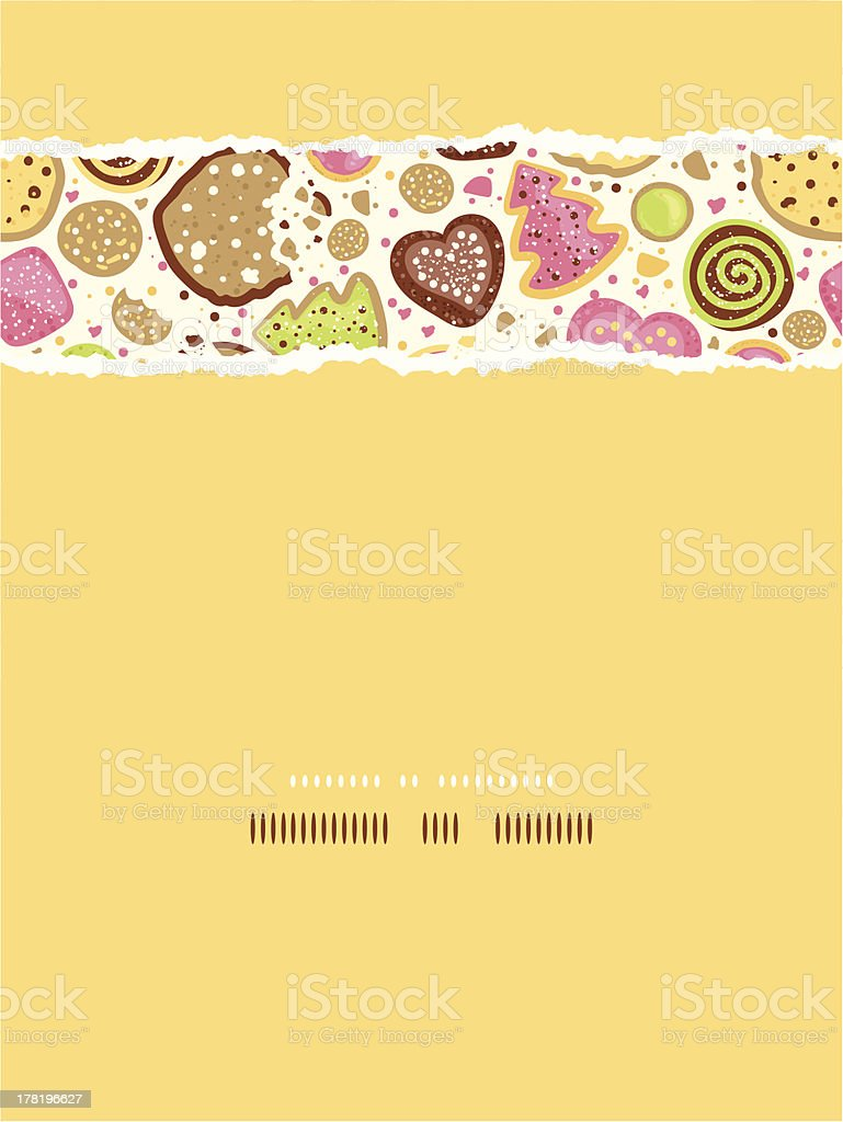 Colorful cookies vertical torn seamless pattern background royalty-free stock vector art